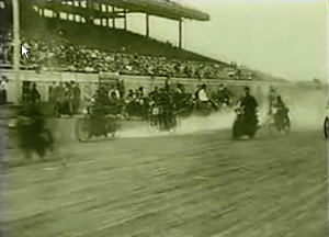 Board track racing in Tacoma around 1914