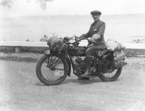 Touring rider at Dash Point on June 15 1925