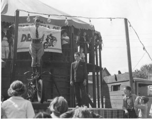 Wall of Death rider at the September 1937 Puyallup Fair