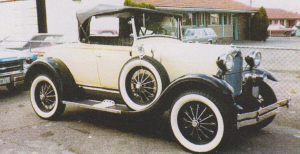 My brand new Ford Model A bought new in 1984. I had lots of fun with this car, but like most of my cars, I sold it.