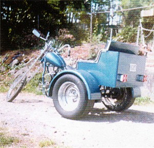 We build many trikes and choppers in the early 1960's. This one had an all steel body.