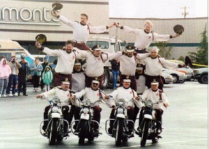 The World's Greatest Stunt and Drill Team. Just one of the many stunts the Cossacks do.